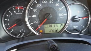 2015/10/7 メーター表示燃費で 15.2 km/L