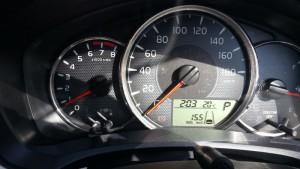 2015/10/29 メーター表示で 15.5km/L ガソリン車