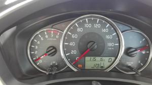 2015/12/07 メーター表示で 12.9km/L 燃費