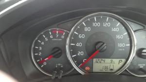 2015/12/18 メーター表示燃費で 13.6km/L