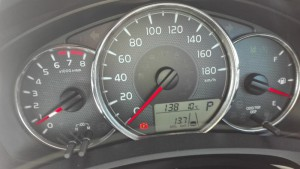 2016/01/15 メーター表示燃費で 13.7km/L
