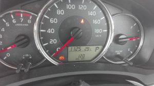 2016-7月メーター表示燃費