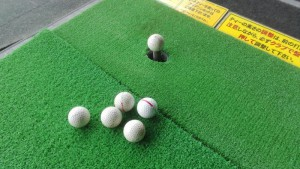 ゴルフガーデン大御門 ボロボロのボール