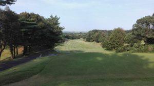 亀山ゴルフ アウトの 1番 PAR5 515yard