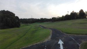 東コース 8番ミドル 356ヤード