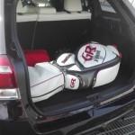 2015年式 カローラフィールダー1.5G ゴルフバッグ4個 余裕です。