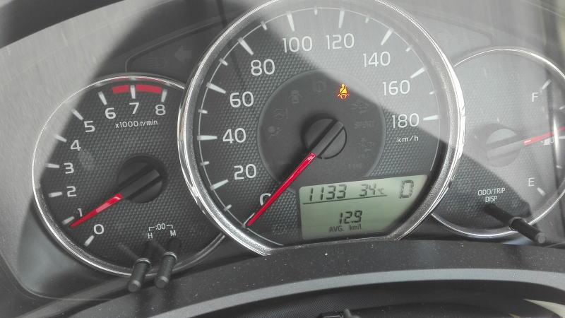 2015年式 カローラフィールダーメーター表示燃費